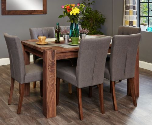 Shiro Walnut Small Dining Table and Chair Sets